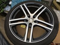 "18"" Audi R8 style alloys. Black & Polish. Falken F452 Tyres. 225 40 ZR18."