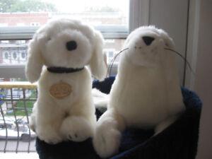 Toutous Chien GUND & Bébé Phoque NEUF- Dog & Baby SEAL NEW! 2/5$