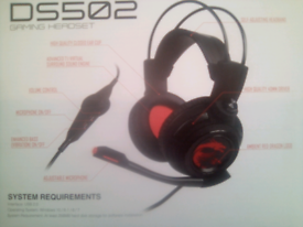 PC Gaming Headset *NEW* MSI DS502 7.1 VIRTUAL SURROUND SOUND (wired)