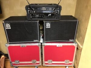 BASS SHOW RIG W/ CUSTOM ROAD CASES