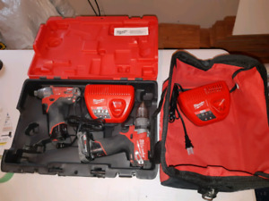Milwaukee M12 fuel drill and impactor