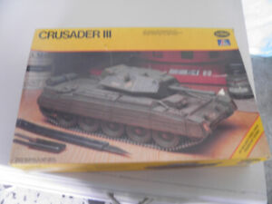 vintage crusader 111 tank model, 1/35 scale, new in box