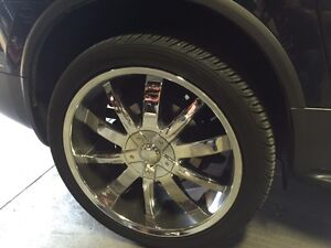 """22"""" Chrome Mags with tires for sale!!"""