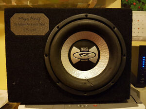 Jensen 340 Watt amp and 1000 what sub combination for your car.