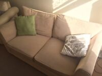 Sofa & Armchair (w/ Fold Out Double Bed)