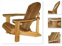 Amish/Mennonite Made White Cedar Muskoka Chair - FREE SHIPPING