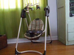 Graco teddy bear baby swing with music and white noise
