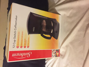 Sunbeam 12 cup coffee maker (brand new in box)
