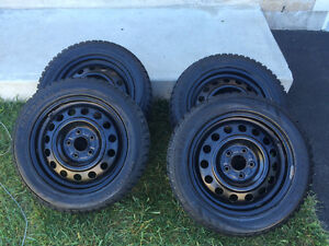 4 winter tires with rims West Island Greater Montréal image 1