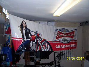 STURGIS RALLY BUD BANNER OR RODEO BANNER