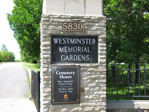 Westminster Cemetery - 4 Burial Plots for Sale