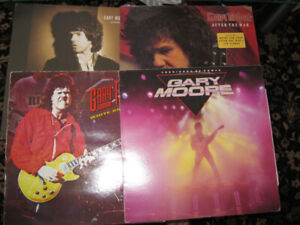 LOT 4LP GARY MOORE-RUN FOR COVER+WHITE KNUCKLES=CORRIDORS OF POE