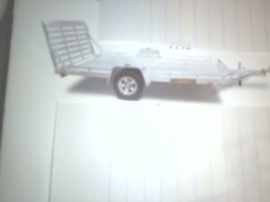 12 foot long All Aluminum Trailer - 1300 miles on it  only