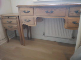 Next Rochelle bedroom furniture set. Side table and dressing table.