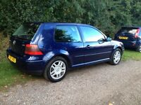 VW 3dr MK4 Golf 1.8 GTi Turbo Blue 150BHP MOT until 05/17