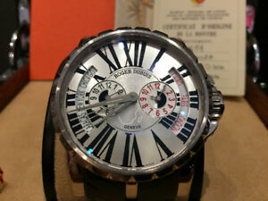ROGER DUBUIS 18KT GOLD EXCALIBUR TRIPLE TIME ZONE LIM.EDITION