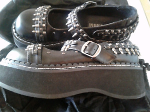 Ladies Demonia Bullet Maryjanes
