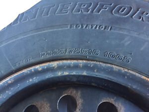 Sante Fe Winter Tires on Rims Kitchener / Waterloo Kitchener Area image 1