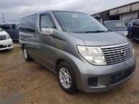 NISSAN ELGRAND, 2005, 2.5, 58,400 MILES, AUTOMATIC IN GREY