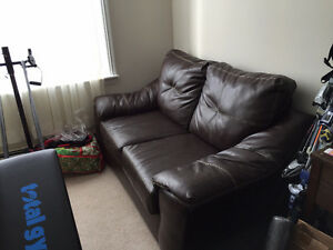leather couch $200