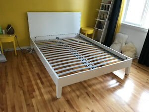 White Nordli Bed frame (Ikea) Queen Size