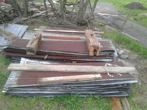 Reclaimed steel roofing in great condition