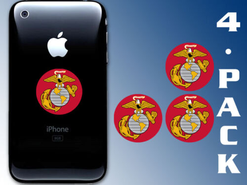 4-Pack 1.5 inch Round Marines Logo Cell Phone Stickers -decal small case usmc
