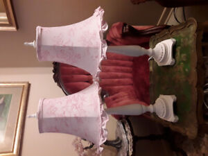 Lampes de style shabby chic