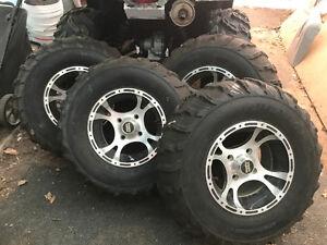Yamaha Grizzly/Kodiak Rims & Tires 4 - AT25 x 10 R12