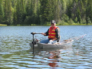 6 ft Flat Bottom Aluminum Boat and Motor