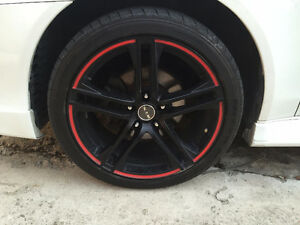 Black with Red Trim RTXs 18 in.