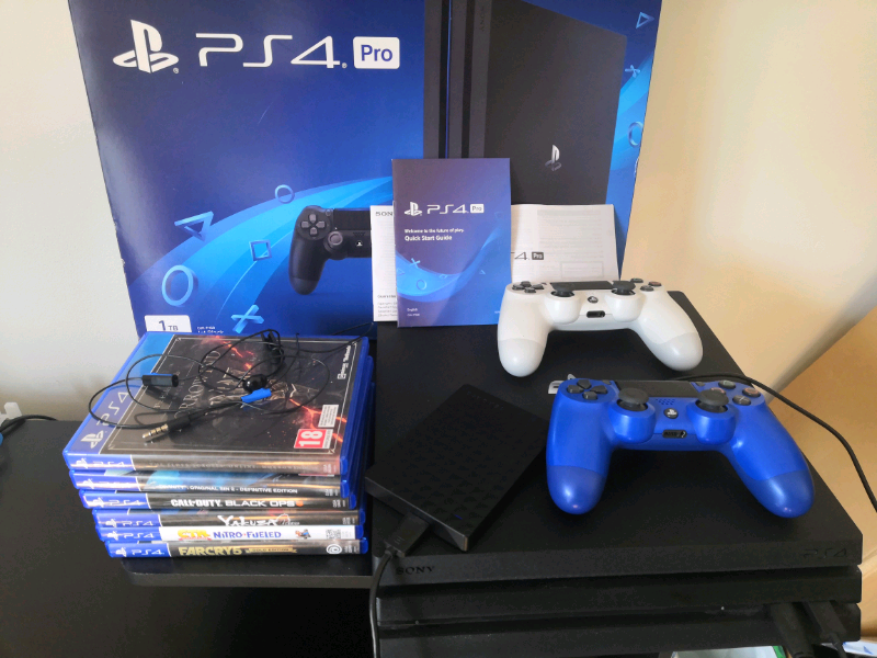 Ps4 Pro boxed with games 2 controllers and hard drive | in Sighthill,  Edinburgh | Gumtree