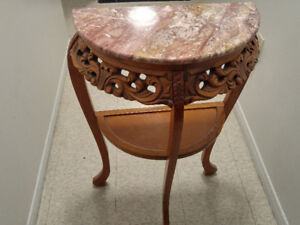 Half moon Foyer/Console Table with stone top MOVING OUT SALE!!!