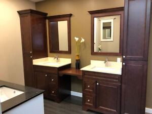Get promotional price  on bathroom Vanities and countertops!