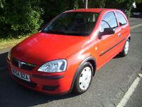 2004 (54 reg) Vauxhall Corsa 1.0 i Life 3dr