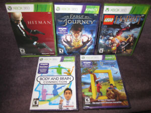 XBox 360 Games NEW, sealed - Fable, Hobbit, H_tman, etc-See List