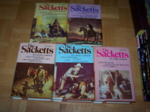 5 large hardcovers THE SACKETTS by Louis L'Armour