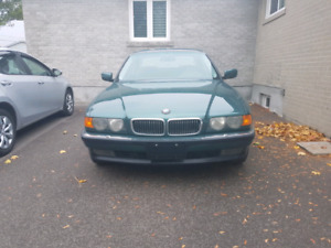 2000 BMW 740I E38 RARE VERMONT GREEN ON GREEN LEATHER