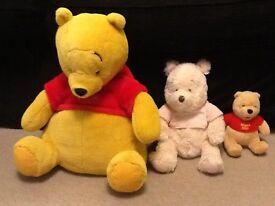 Winnie the Pooh teddy bears x3