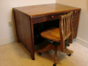 Desk solid wood antique