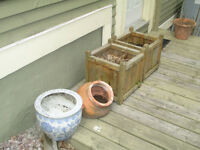 Large planters for sale $ 5.00 to $15.00