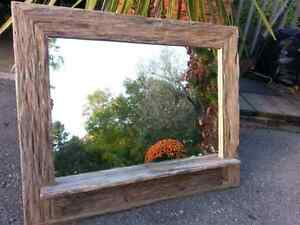 Barn board mirrors