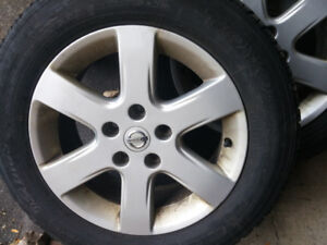 Nissan Altima Sentra Winter Mags and Tire 205-65-R16, 5X114.3