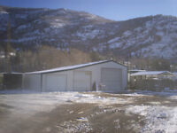 industrial lot with shop office and living quarters.