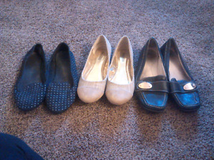 Womens size 8 flats and boots