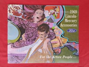 1969 MERCURY COUGAR CYCLONE LINCOLN Accessories Brochure NOS