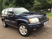 Jeep grandcheerokey 4.0 petrol limited 1 former owner