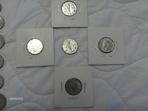 Coins - Victory Nickels 1943 Brown, 1944 Silver, 1945 Silver Kitchener / Waterloo Kitchener Area image 3