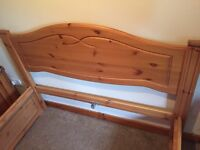 Double bed and 2 matching bedside tables
