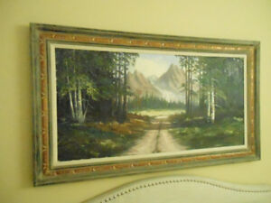 VERY NICE LARGE SCENIC OIL PAINTING